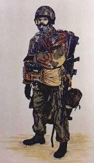 Marine HALO Parachutist