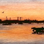 The Old Poole Power Station at Sunset
