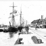 Poole Quay and Harbour Office, Old Poole circa 1900
