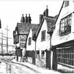 Thames Street and the New Inn, Old Poole circa 1900