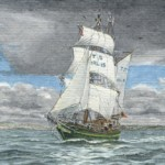 T S Asgard II off Weymouth