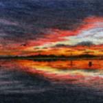 Fiery Skies at Twilight